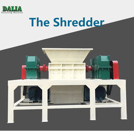 Double Shaft Plastic Shredder Machine Large Caliber Pipe With 1000kg/h